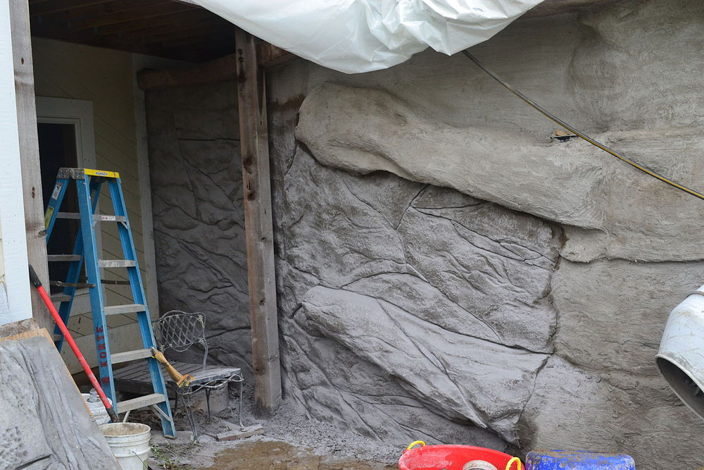 Best ideas about DIY Concrete Retaining Wall . Save or Pin DIY Carved Vertical Concrete Retaining Wall Now.