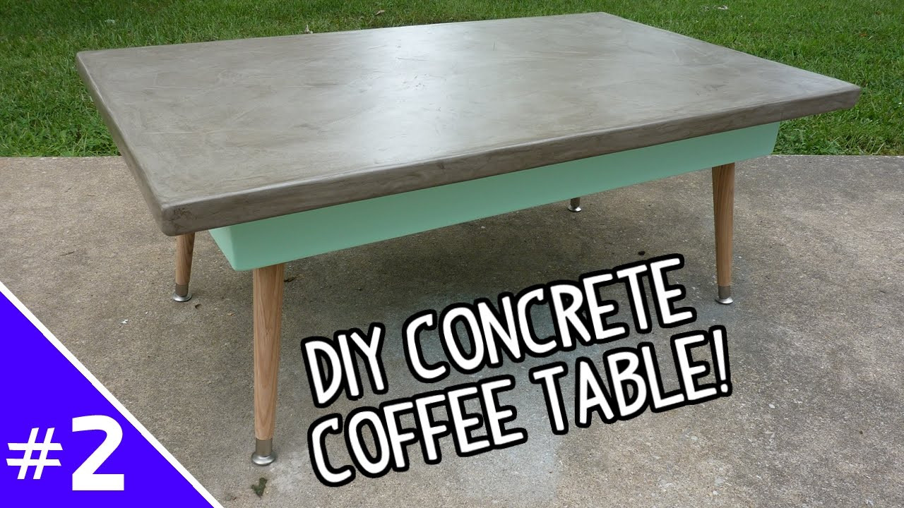 Best ideas about DIY Concrete Tables . Save or Pin DIY Ardex Concrete Coffee Table Part 2 of 2 Now.