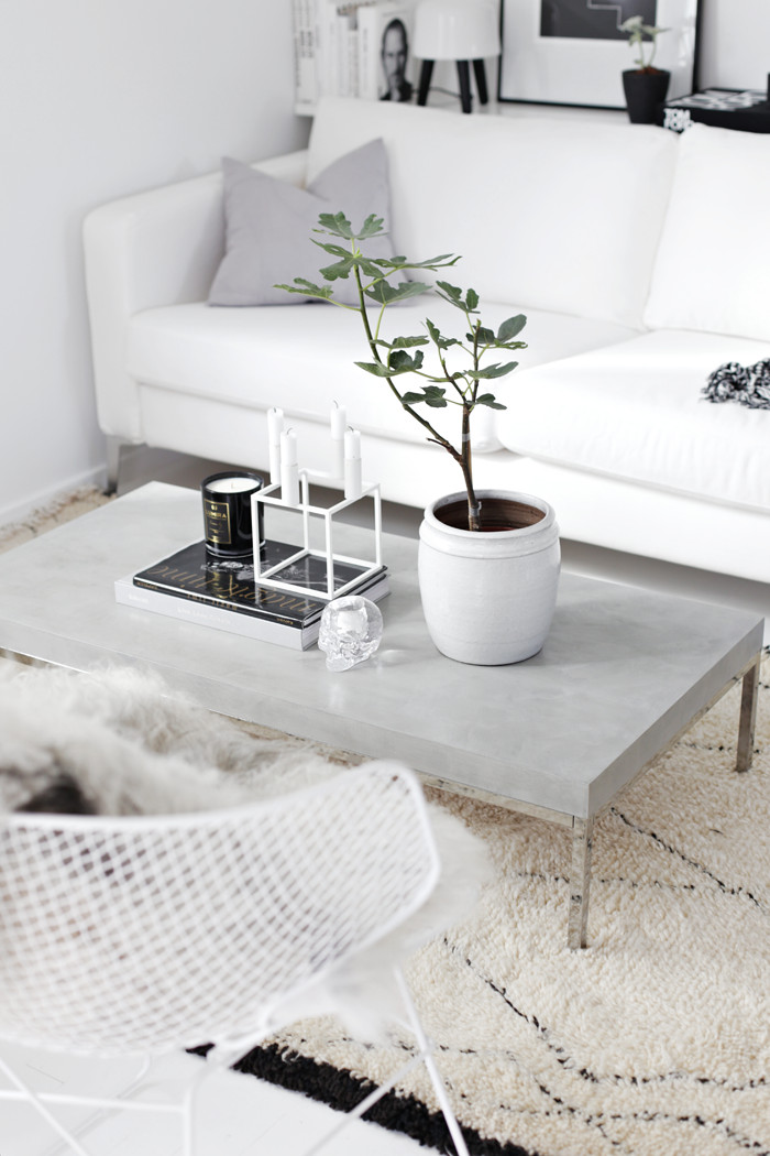 "Best ideas about DIY Concrete Tables . Save or Pin DIY ""Concrete"" table Stylizimo Now."