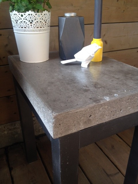 Best ideas about DIY Concrete Tables . Save or Pin DIY Concrete Side Table Storefront Life Now.