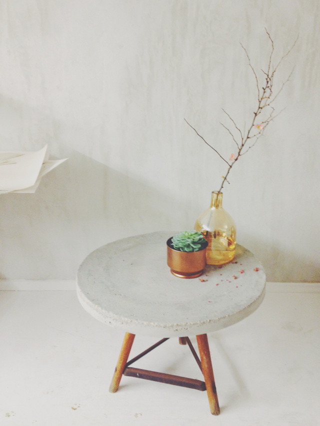 Best ideas about DIY Concrete Tables . Save or Pin 18 DIY Concrete Coffee and Side Tables Now.