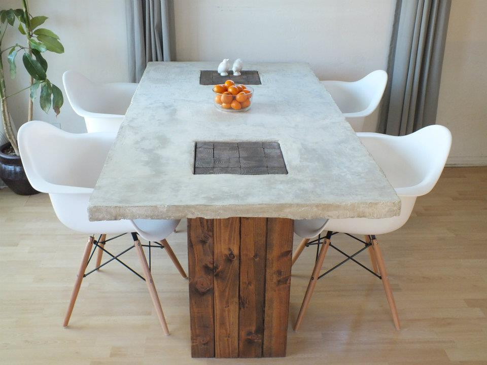 Best ideas about DIY Concrete Tables . Save or Pin Designer Eco ECO DIY FEATURE CONCRETE TABLE Now.