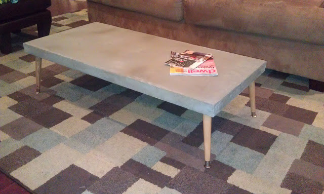 Best ideas about DIY Concrete Tables . Save or Pin DIY Concrete Table – Dave and Kelly Davis Now.
