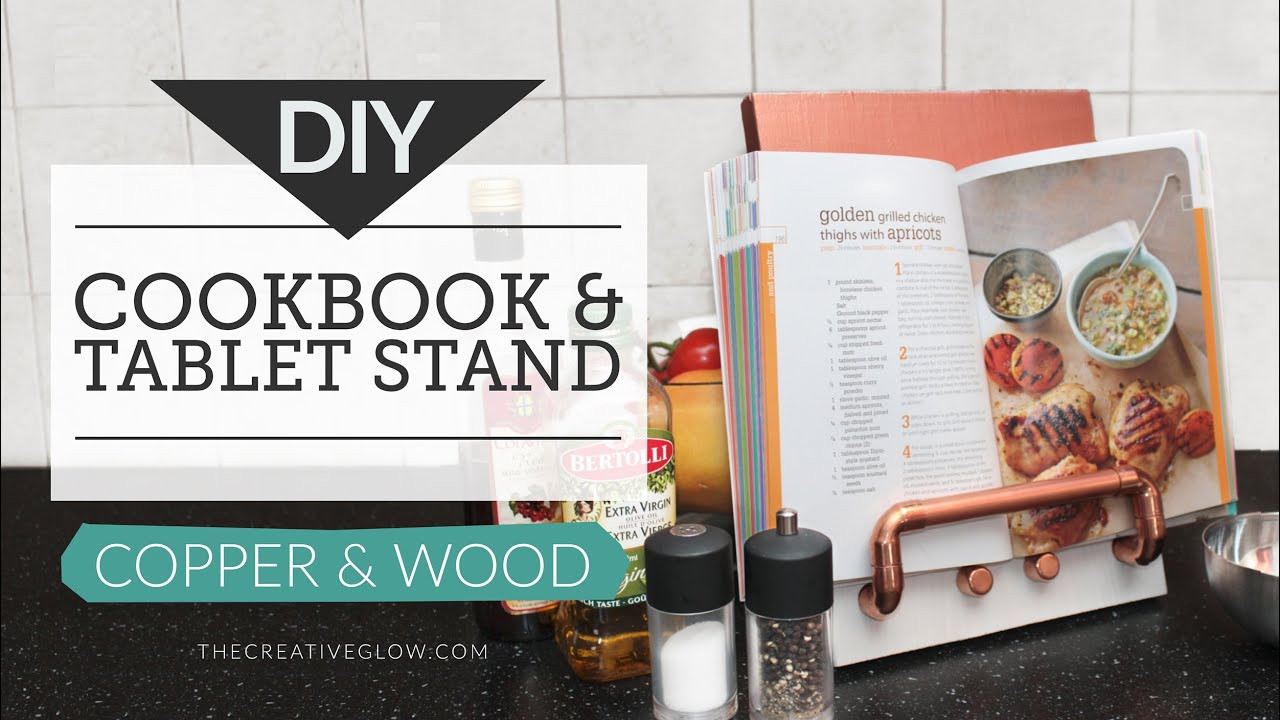 Best ideas about DIY Cookbook Stand . Save or Pin DIY Cookbook Stand & Tablet Stand Copper & Wood Now.