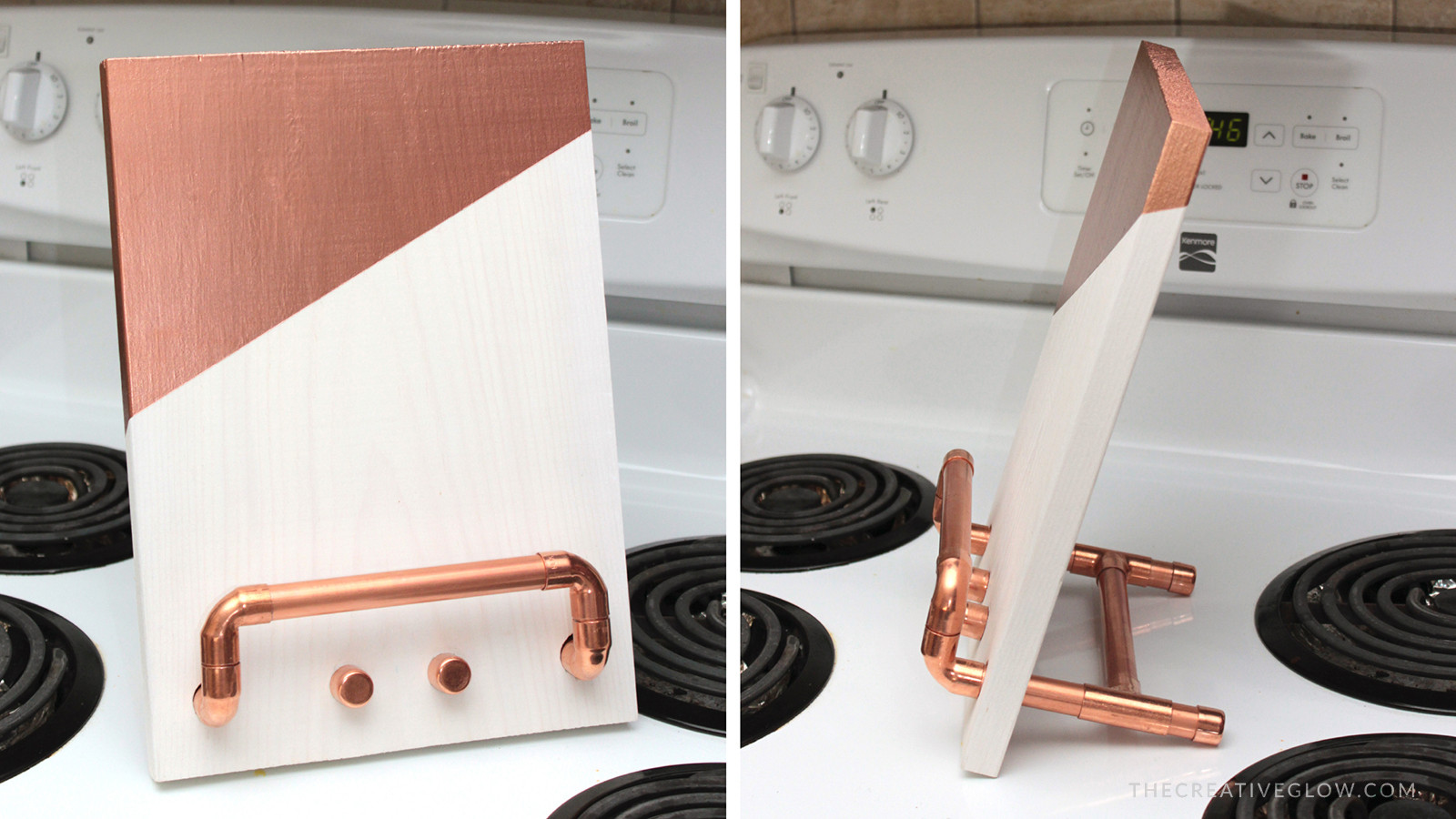 Best ideas about DIY Cookbook Stand . Save or Pin DIY Cookbook & Tablet Stand Copper & Wood Now.