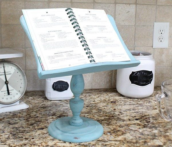 Best ideas about DIY Cookbook Stand . Save or Pin iPad Recipe Holder Thrifty Makeover Now.