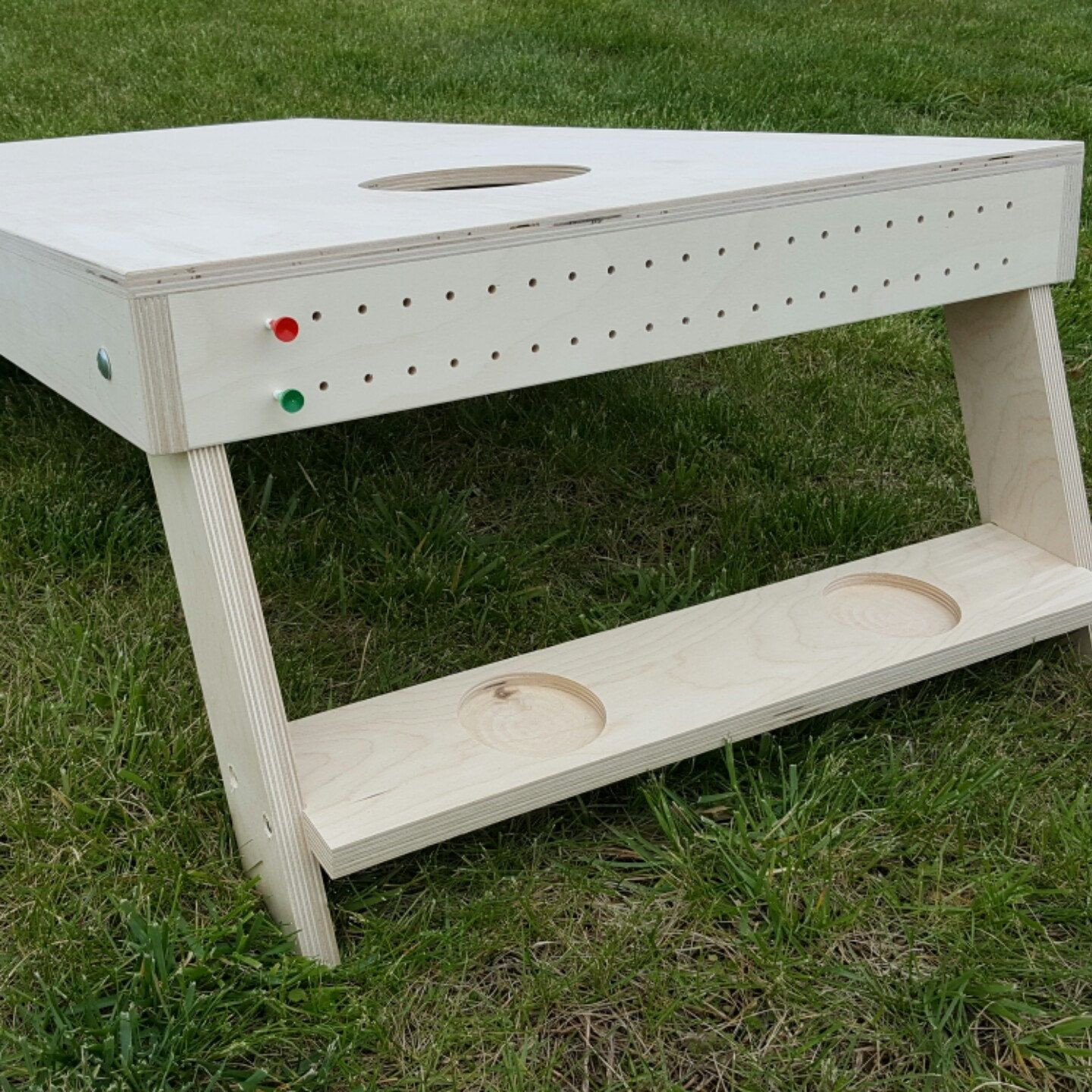 Best ideas about DIY Cornhole Plans . Save or Pin Working on making scoring pins and cup holders for our Now.