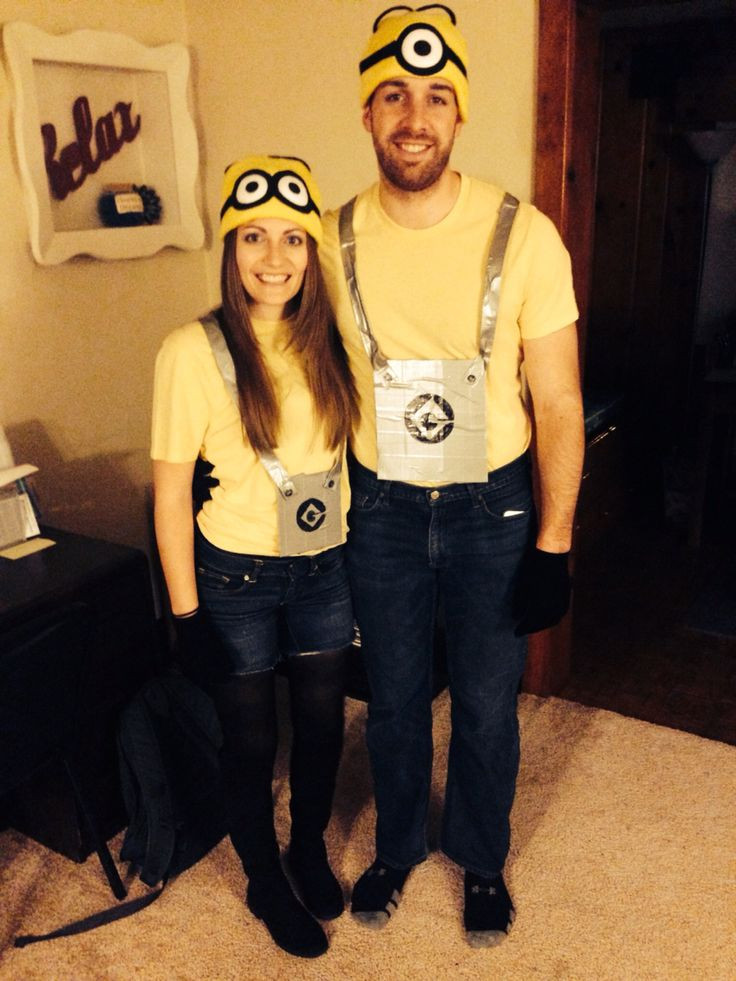 Best ideas about DIY Costumes 2019 . Save or Pin Diy Minions couples Halloween costume Now.