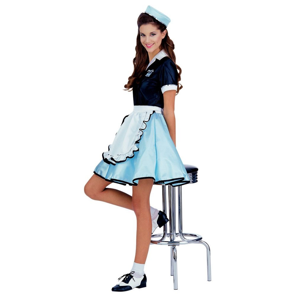 Best ideas about DIY Costumes For Girls . Save or Pin Car Hop Costume Adult 50s Girl Diner Waitress Halloween Now.