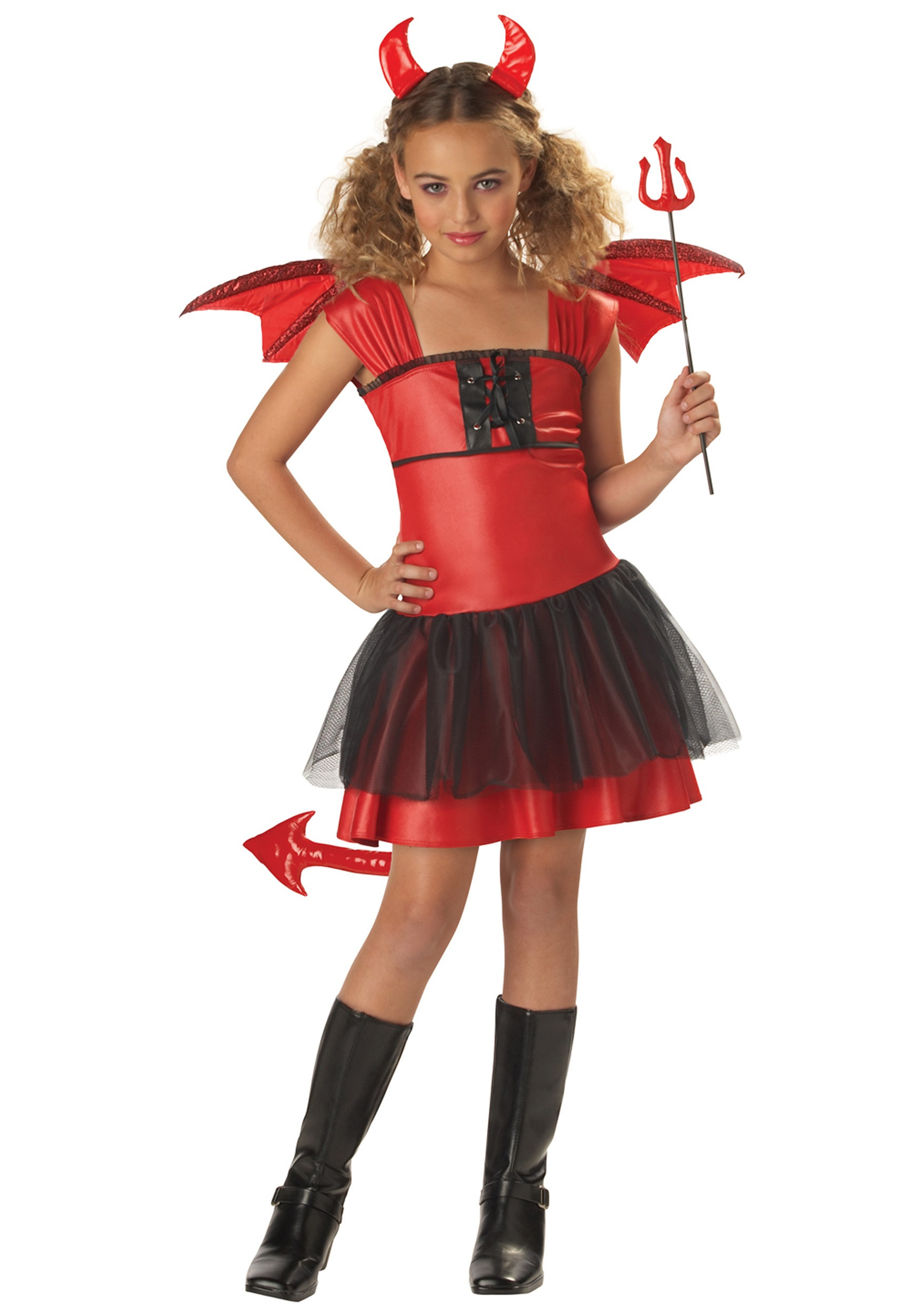 Best ideas about DIY Costumes For Girls . Save or Pin Girls Darling Devil Costume Devil Halloween Costumes for Now.