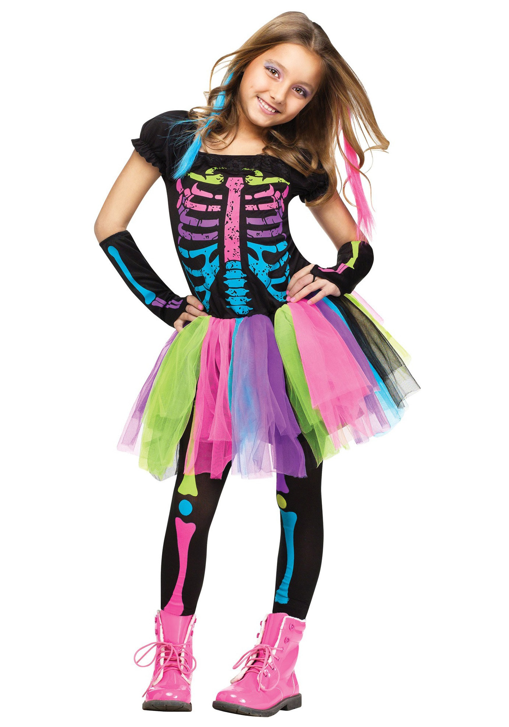 Best ideas about DIY Costumes For Girls . Save or Pin Girls Funky Punky Bones Costume Now.