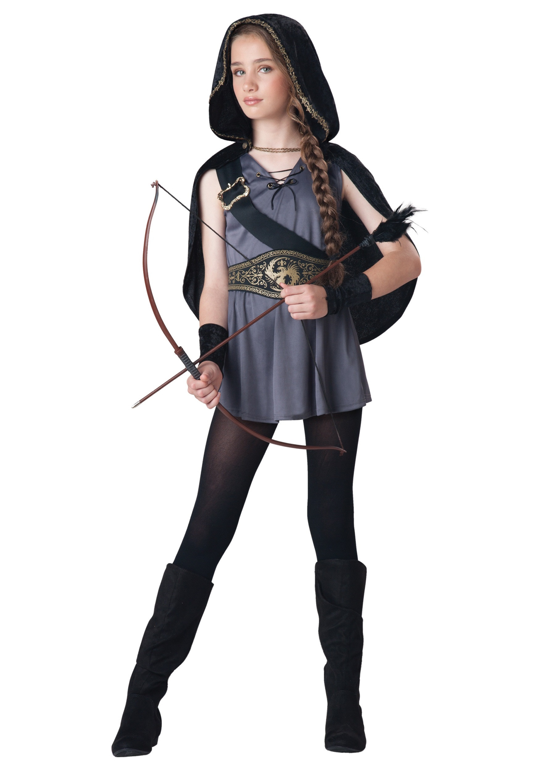 Best ideas about DIY Costumes For Girls . Save or Pin Girls Hooded Huntress Costume Now.