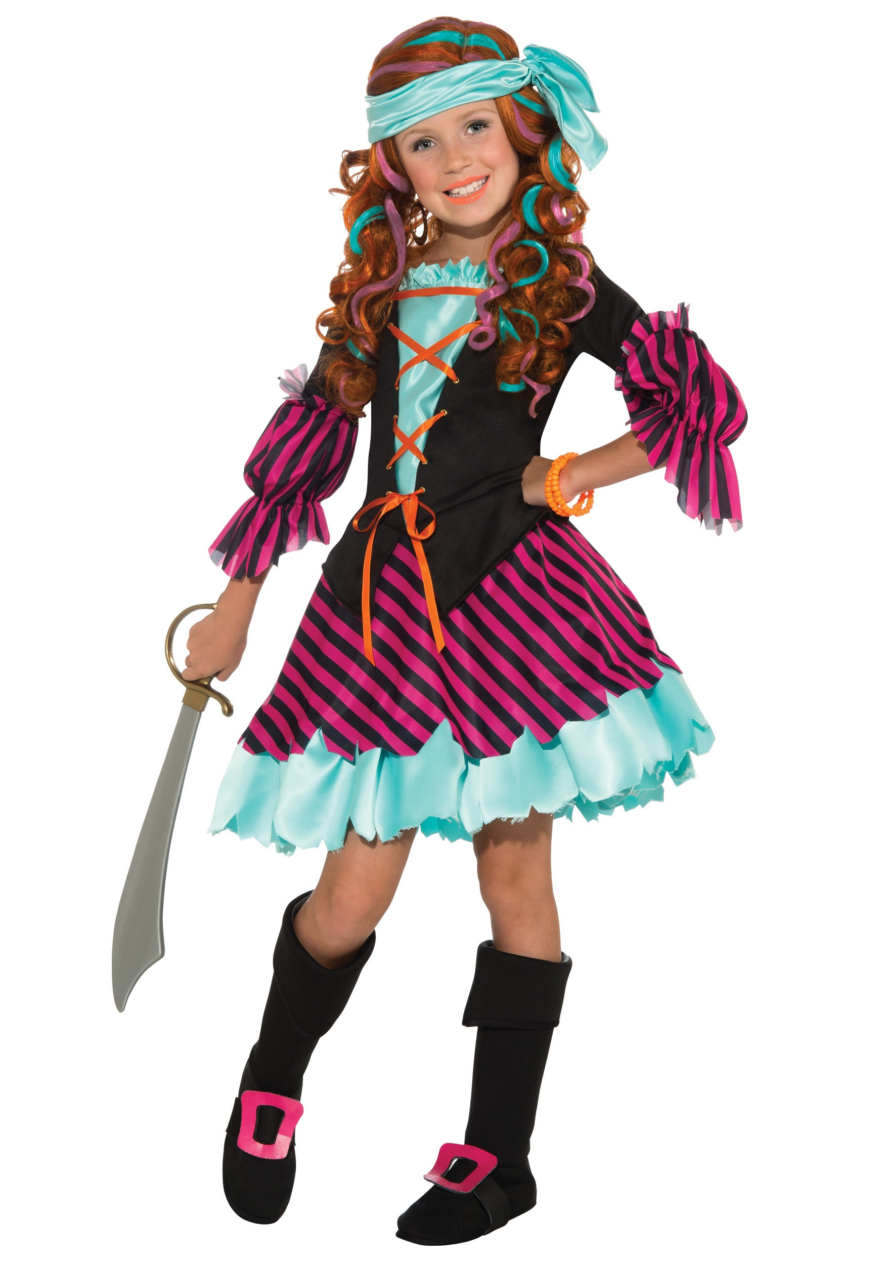 Best ideas about DIY Costumes For Girls . Save or Pin Salty Taffy Girls Pirate Costume Now.