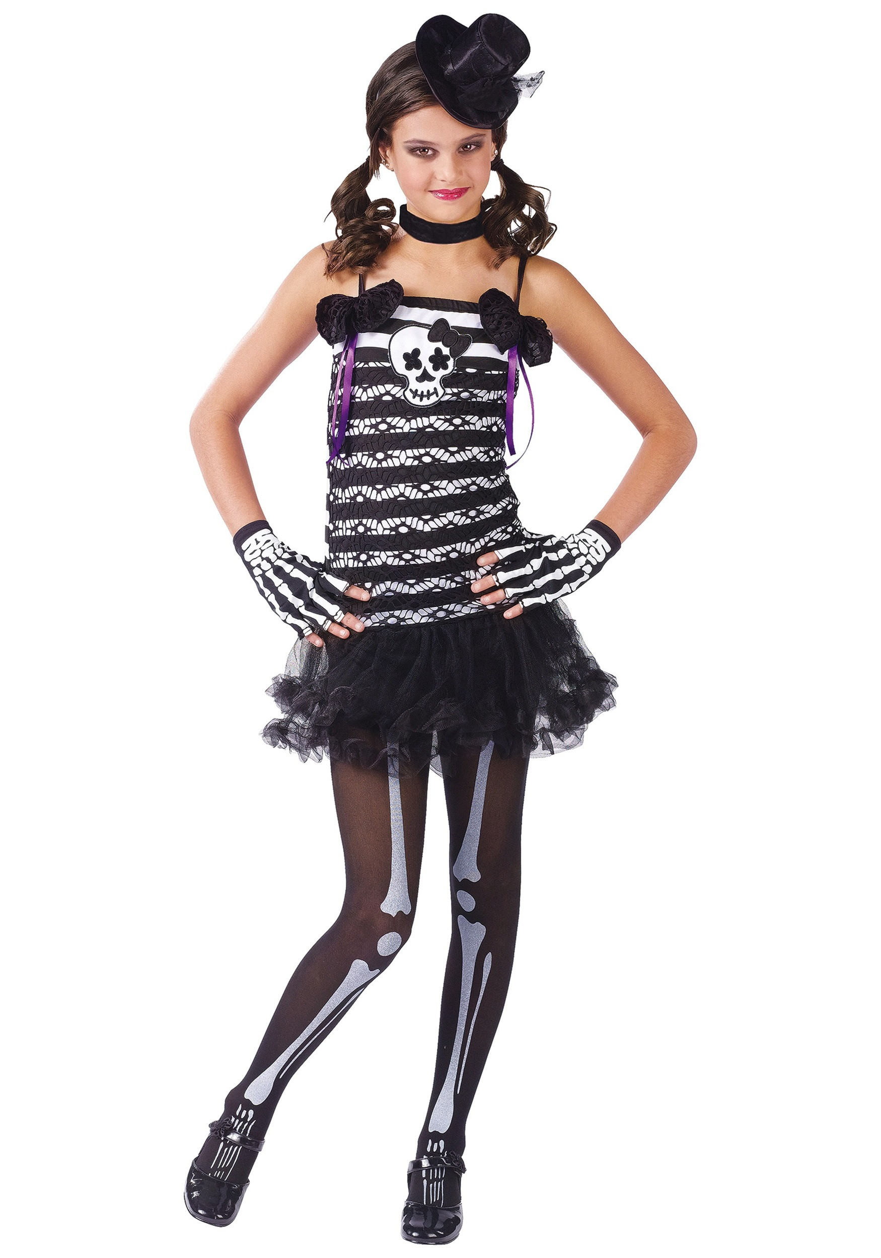 Best ideas about DIY Costumes For Girls . Save or Pin Girls Skeleton Costume Now.