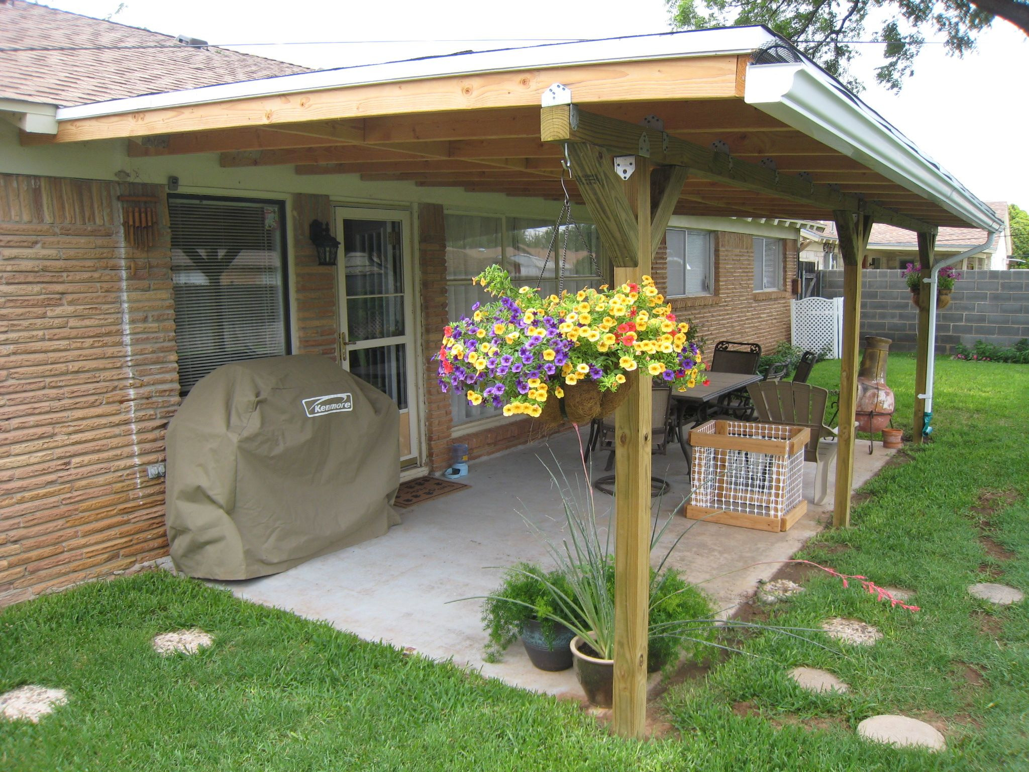 Best ideas about DIY Covered Patio Plans . Save or Pin July 2011 Runner up Winner Patio cover makeover Now.