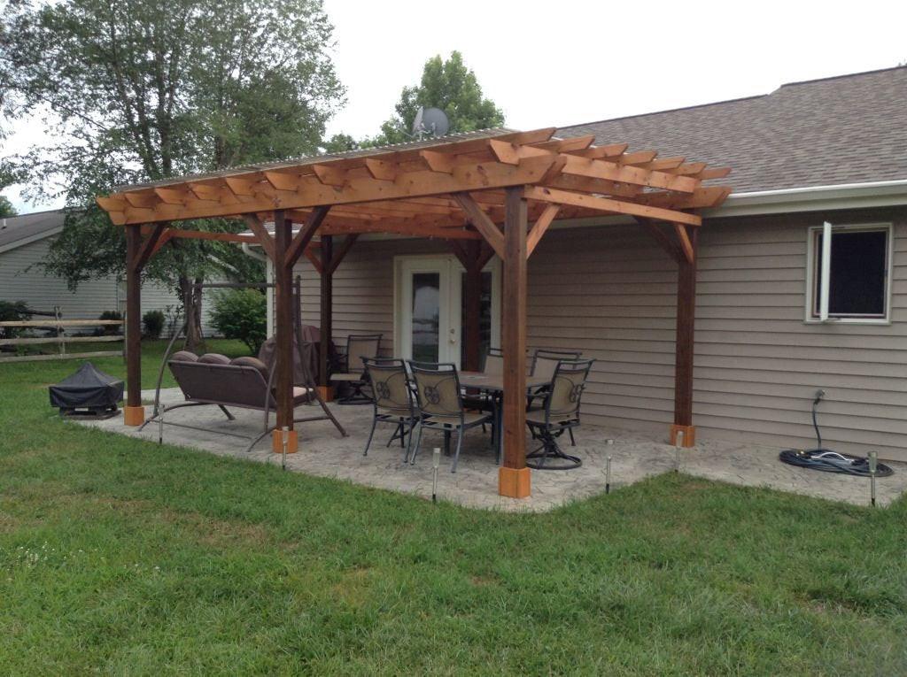Best ideas about DIY Covered Patio Plans . Save or Pin Covered Pergola Plans 12x20 Build DIY Outside Patio Wood Now.