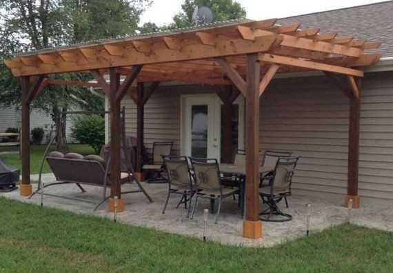 Best ideas about DIY Covered Patio Plans . Save or Pin Covered Pergola Plans 12x24 Outside Patio Wood Design Now.