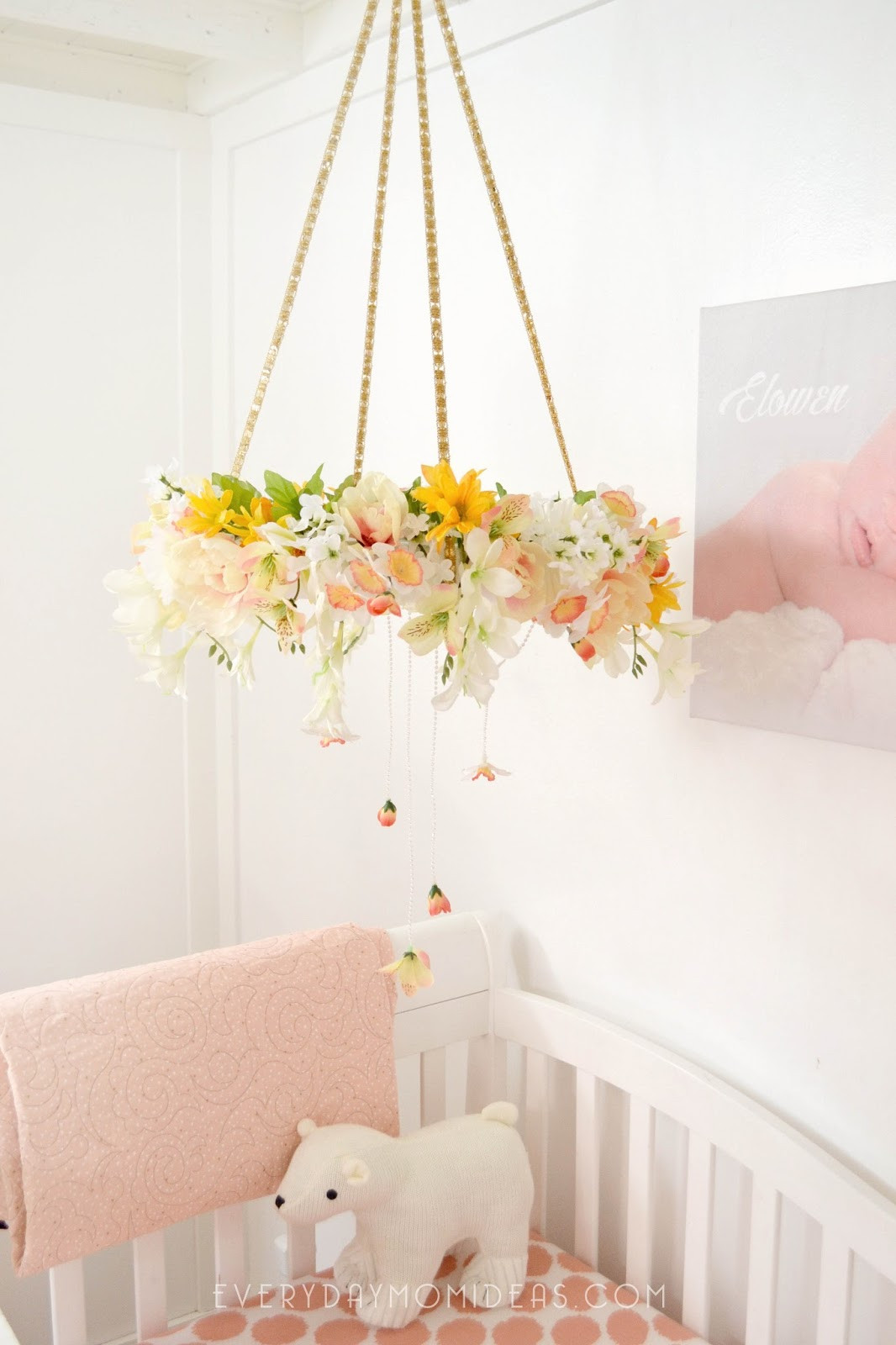 Best ideas about DIY Crib Mobiles . Save or Pin DIY Floral Baby Mobil Chandelier Full Tutorial Now.