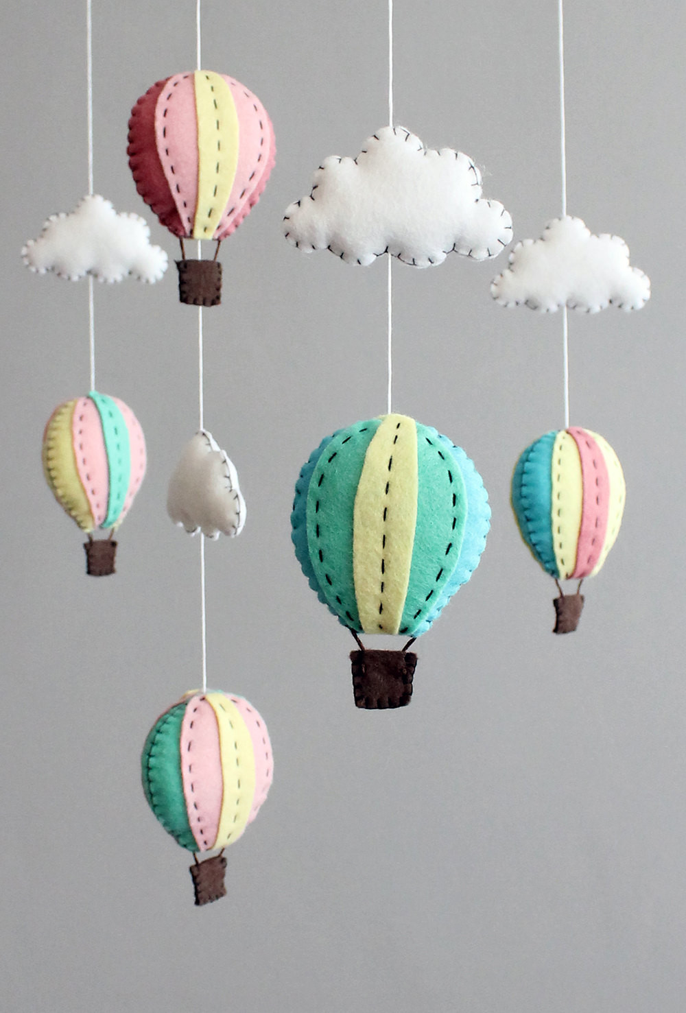 Best ideas about DIY Crib Mobiles . Save or Pin diy baby mobile kit make your own hot air balloon by Now.