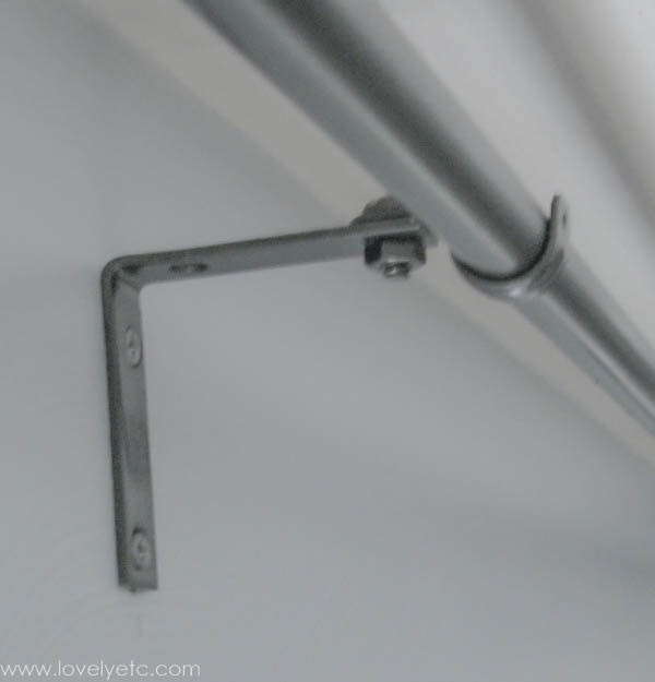 Best ideas about DIY Curtain Rod Bracket . Save or Pin The cheapest DIY curtain rods ever Lovely Etc Now.