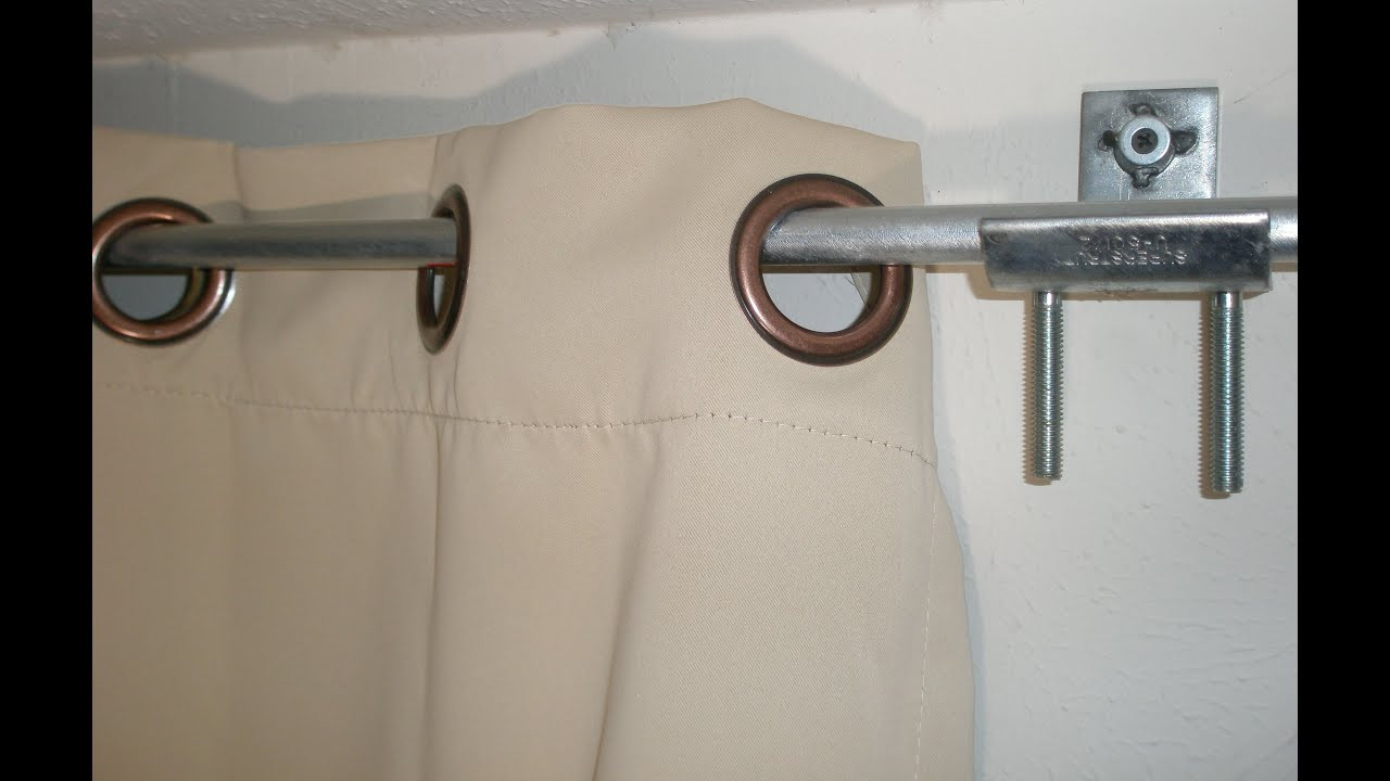 Best ideas about DIY Curtain Rod Bracket . Save or Pin DIY Curtain rod & brackets holders hack from electrical Now.
