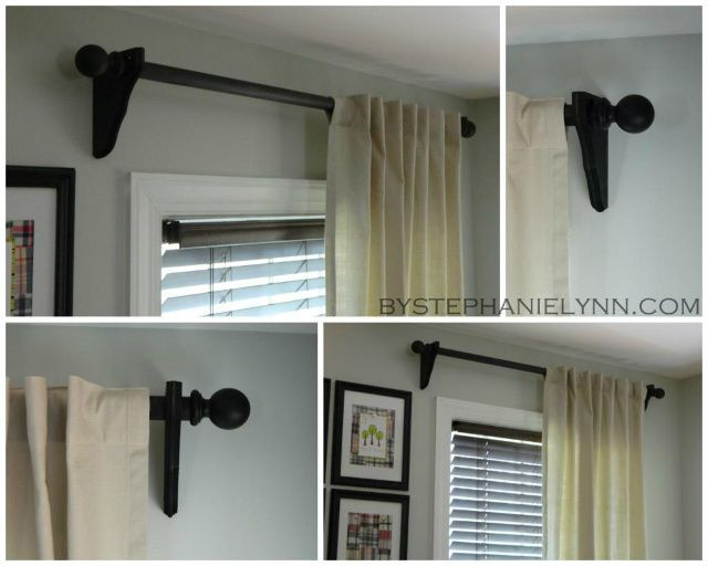 Best ideas about DIY Curtain Rod Bracket . Save or Pin Make Your Own Wooden Ball Curtain Rod Set with Brackets Now.
