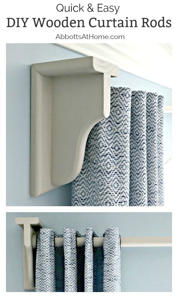 Best ideas about DIY Curtain Rod Bracket . Save or Pin Quick & Easy DIY Wooden Curtain Rod and Brackets Abbotts Now.