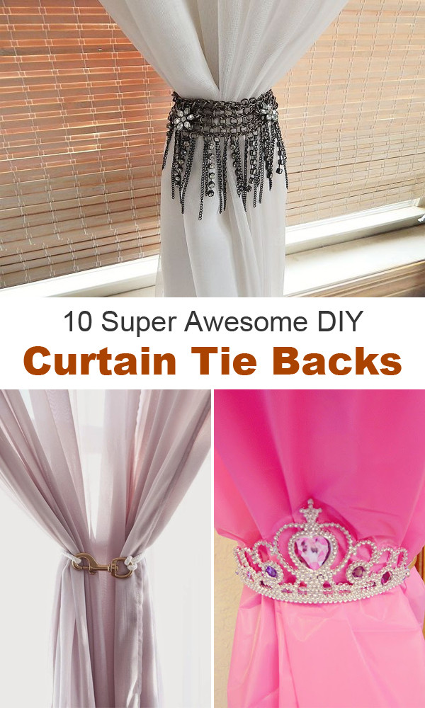 Best ideas about DIY Curtain Tie Back . Save or Pin 10 Super Awesome DIY Curtain Tie Backs Now.