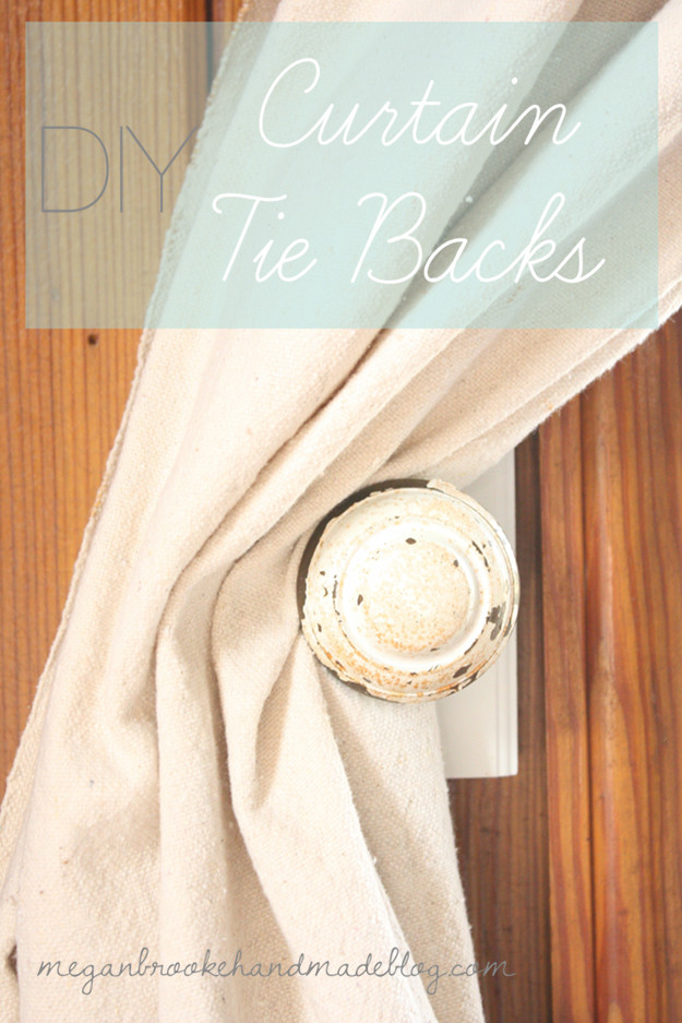 Best ideas about DIY Curtain Tie Back . Save or Pin DIY Curtain Tie Backs Megan Brooke Handmade Now.