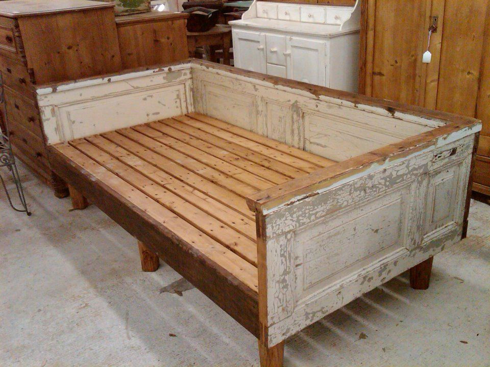 Best ideas about DIY Daybed Frame . Save or Pin Daybed made from antique house parts Love nikki Now.