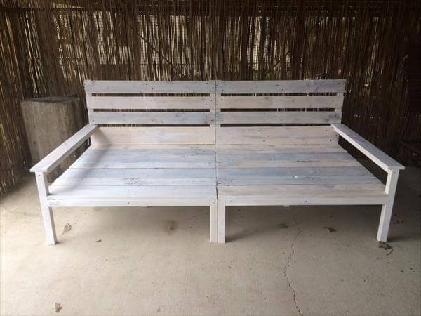 Best ideas about DIY Daybed Frame . Save or Pin DIY Pallet Wide 2 Seated Sofa and Daybed Now.