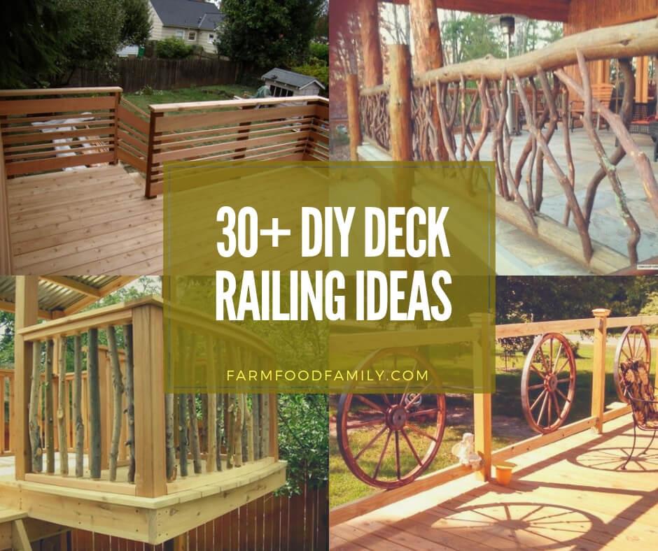 Best ideas about DIY Deck Railing Ideas . Save or Pin 30 Awesome DIY Deck Railing Designs & Ideas For 2019 Now.