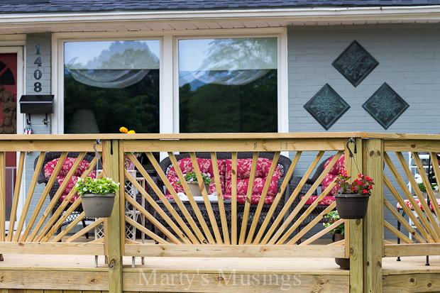 Best ideas about DIY Deck Railing Ideas . Save or Pin Make Your Deck Unique With a Sunburst Deck Railing Now.