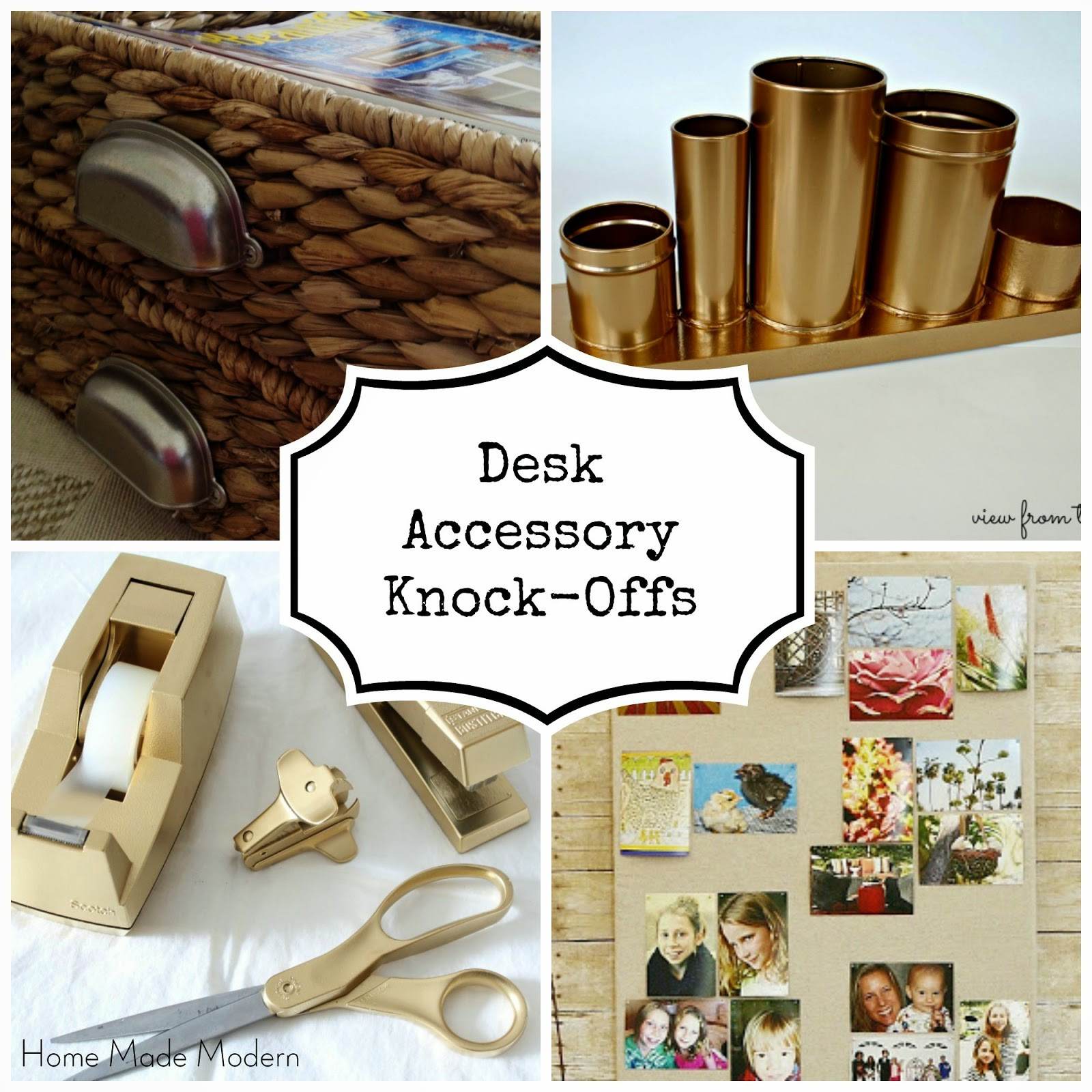Best ideas about DIY Desk Accessories . Save or Pin Home Made Modern Ultra Chic DIY Desk Accessories Now.