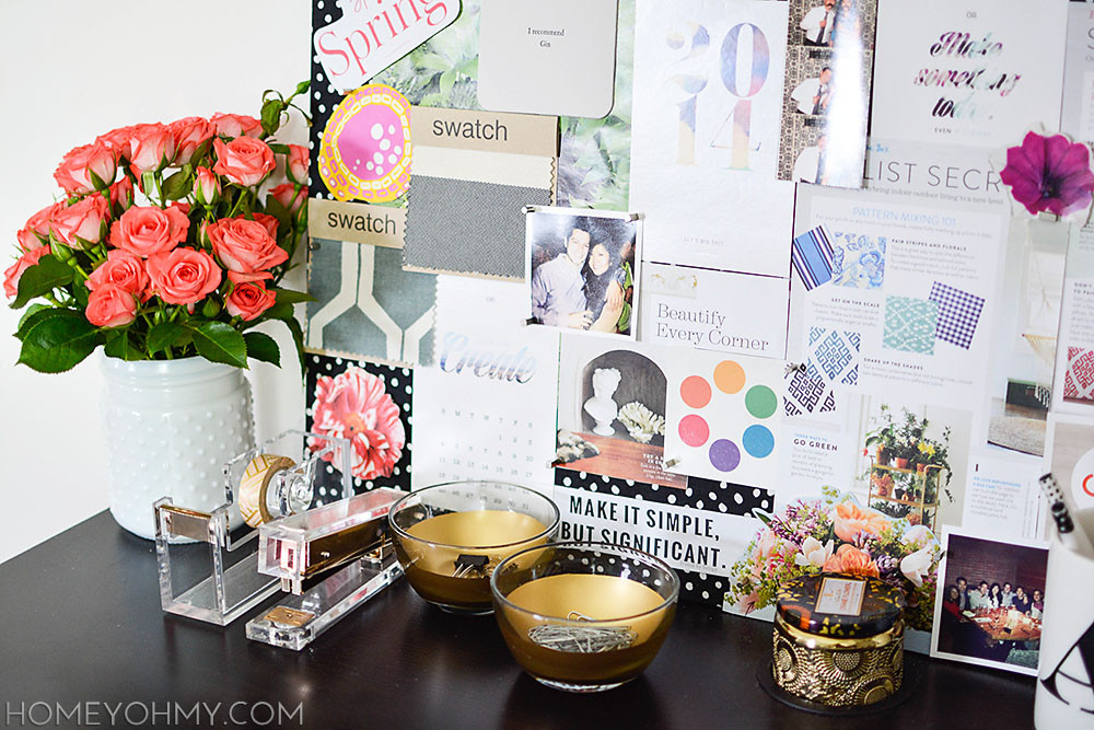 Best ideas about DIY Desk Accessories . Save or Pin Work Space Reveal Homey Oh My Now.