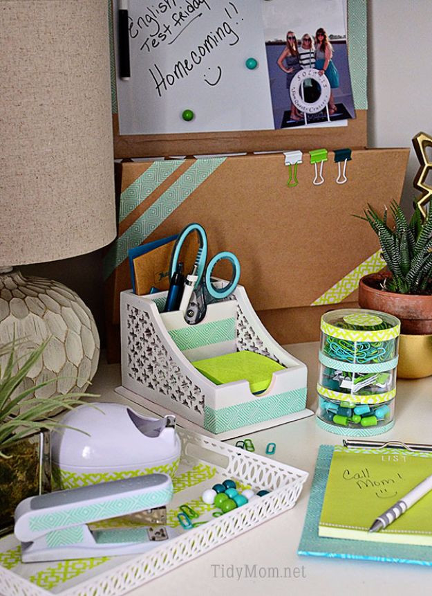 Best ideas about DIY Desk Accessories . Save or Pin 50 Best Back to School DIY Ideas Now.