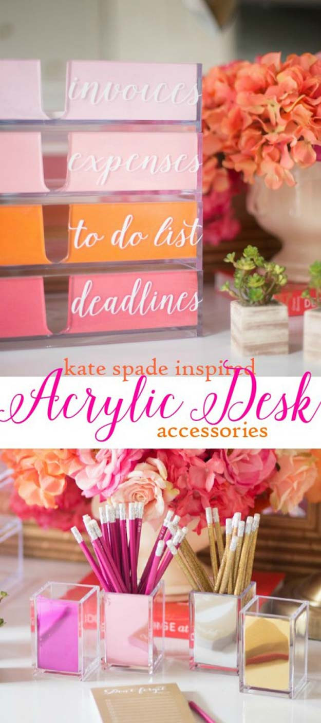 Best ideas about DIY Desk Accessories . Save or Pin 40 Fun DIYs for your desk Now.