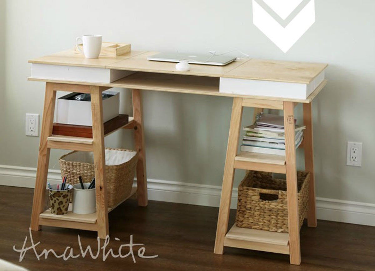 Best ideas about DIY Desk Shelf . Save or Pin DIY Desk 15 Easy Ways to Build Your Own Bob Vila Now.