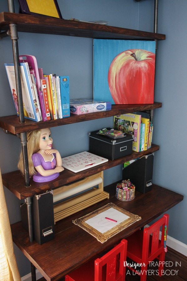 Best ideas about DIY Desk Shelf . Save or Pin DIY Pipe Shelves and Built In Desks Now.