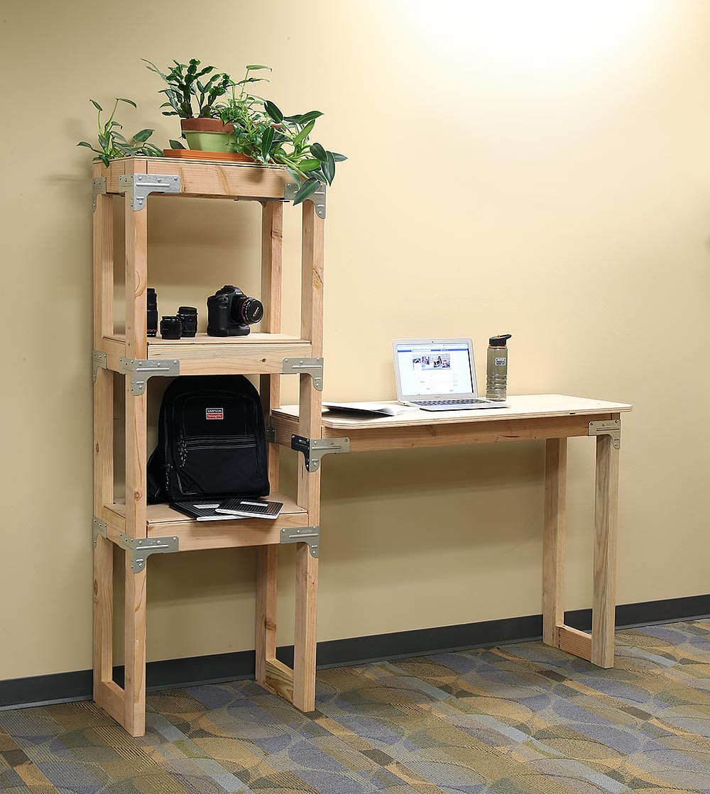 Best ideas about DIY Desk Shelf . Save or Pin DIY Standing Desk and Shelf Video DIY Done Right Now.