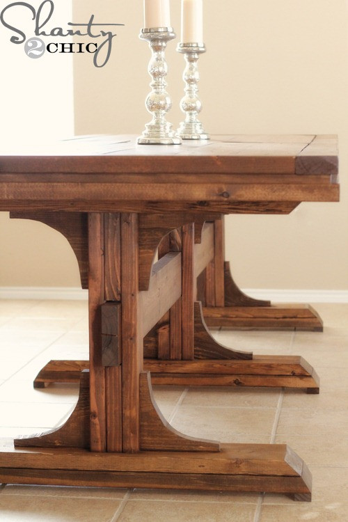 Best ideas about DIY Dining Room Table Plans . Save or Pin Restoration Hardware Inspired Dining Table for $110 Now.