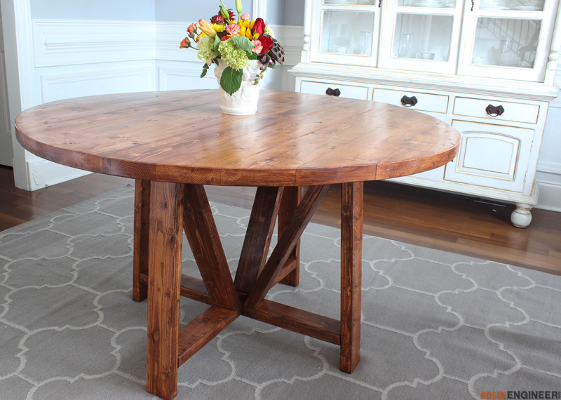 Best ideas about DIY Dining Room Table Plans . Save or Pin Round Trestle Dining Table Free DIY Plans  Rogue Engineer Now.