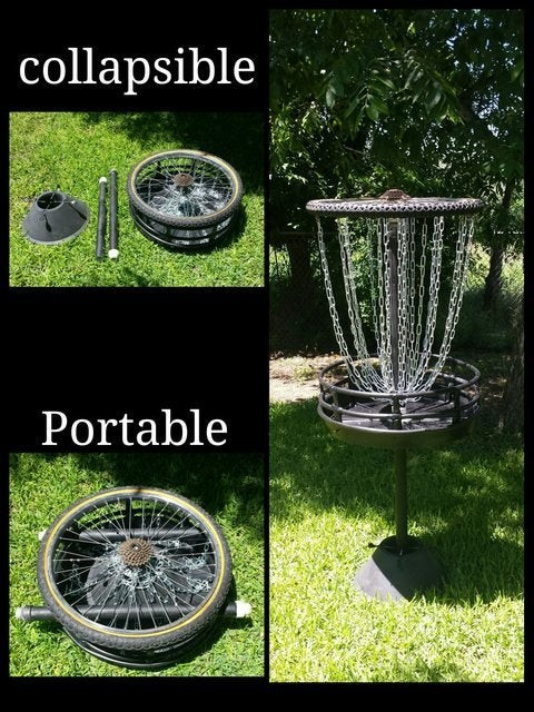 Best ideas about DIY Disc Golf Basket . Save or Pin UPDATE DIY Disc Golf Basket discgolf Now.