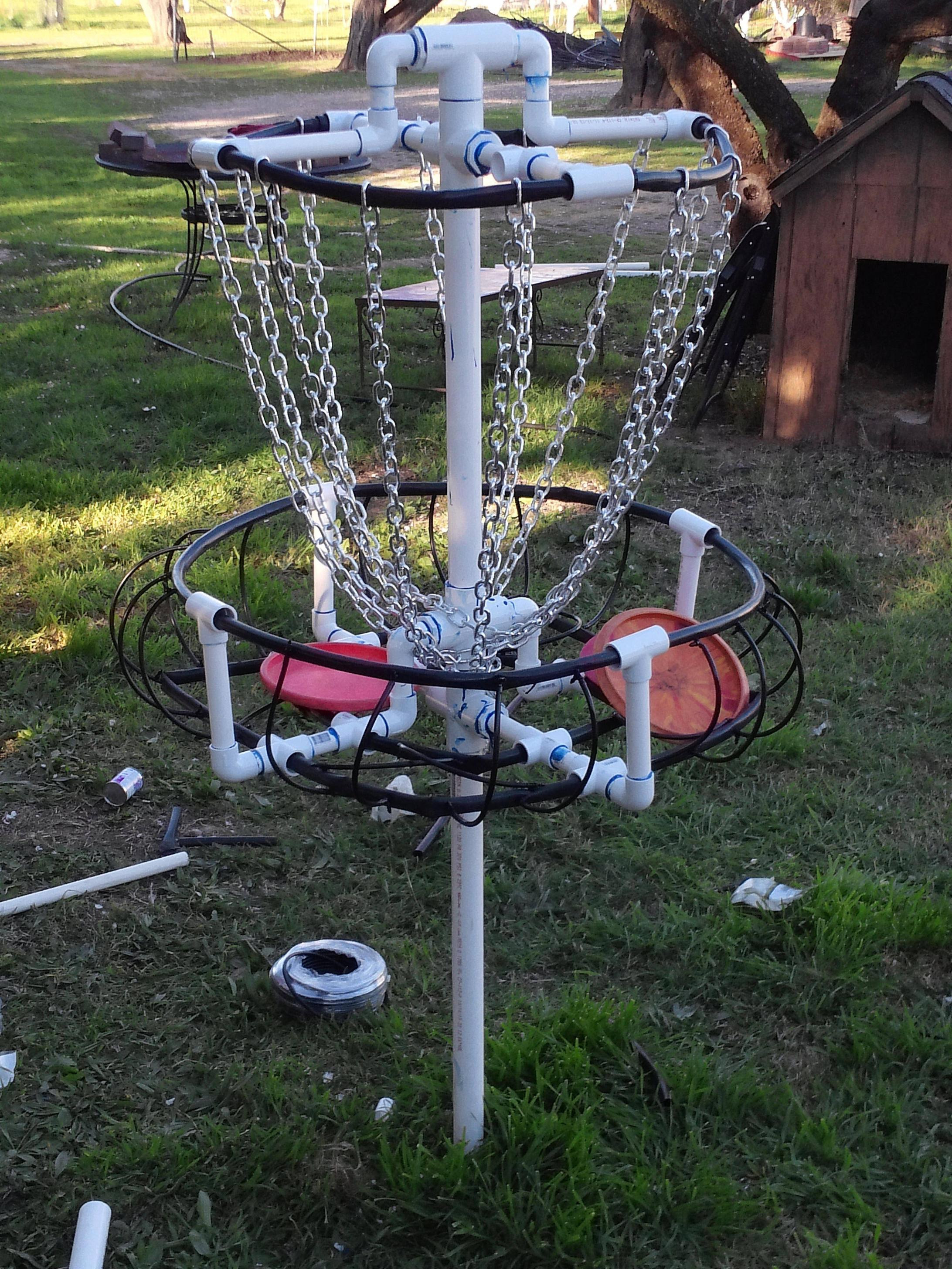 Best ideas about DIY Disc Golf Basket . Save or Pin Homemade PVC basket discgolf Now.