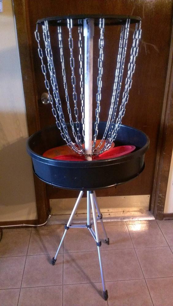 Best ideas about DIY Disc Golf Basket . Save or Pin First attempt at a portable disc golf basket Breaks down Now.