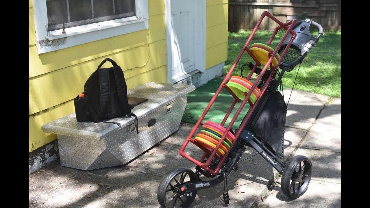 Best ideas about DIY Disc Golf Cart . Save or Pin DIY $25 Disc golf cart rack Now.