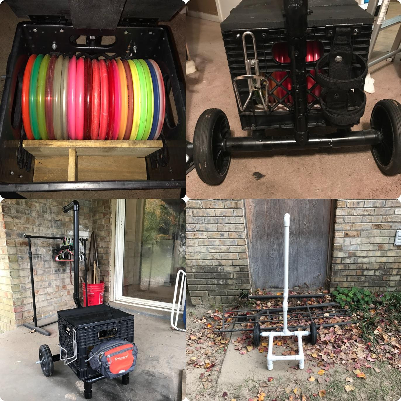 Best ideas about DIY Disc Golf Cart . Save or Pin DIY PVC Disc Golf Cart full view discgolf Now.