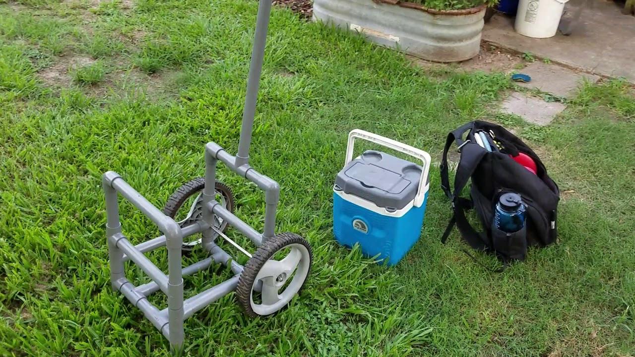 Best ideas about DIY Disc Golf Cart . Save or Pin DIY PVC disc golf cart Now.