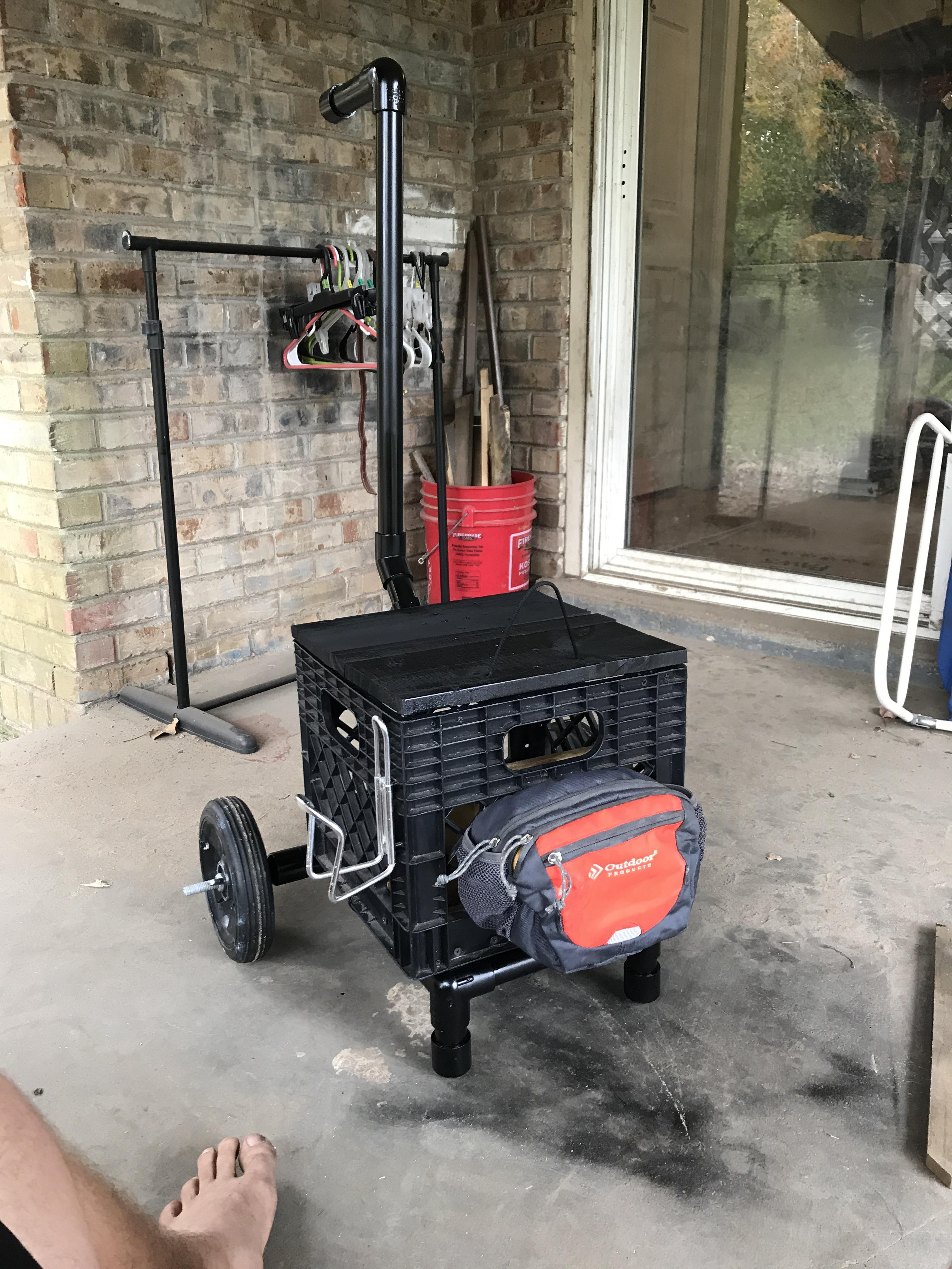 Best ideas about DIY Disc Golf Cart . Save or Pin DIY PVC Disc Golf Cart discgolf Now.
