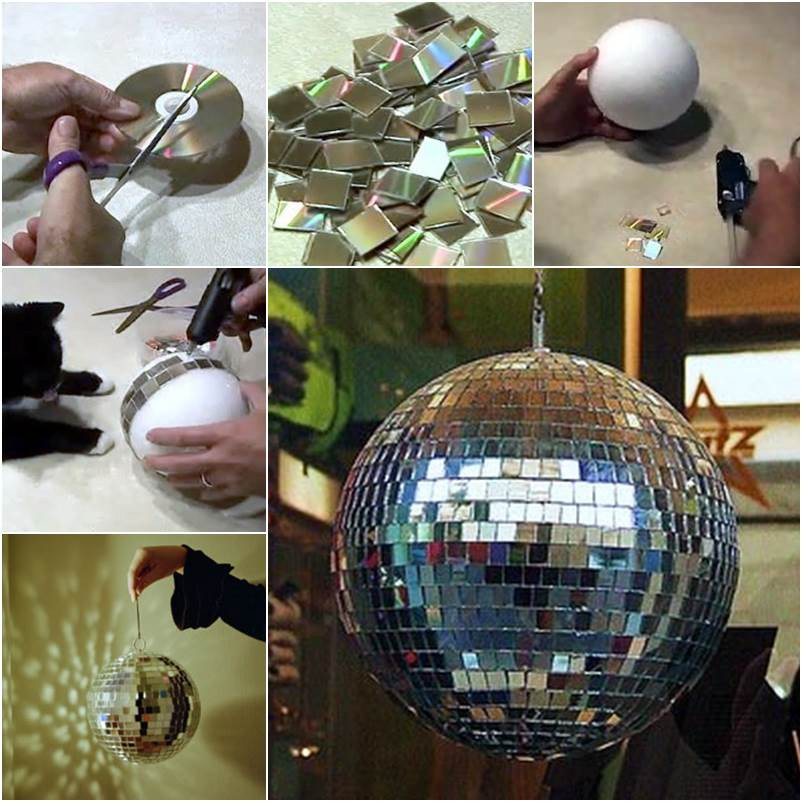 Best ideas about DIY Disco Balls . Save or Pin o fazer um globo de discoteca CD usado Now.